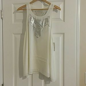 Brand new Gentle Fawn White tank top with silver